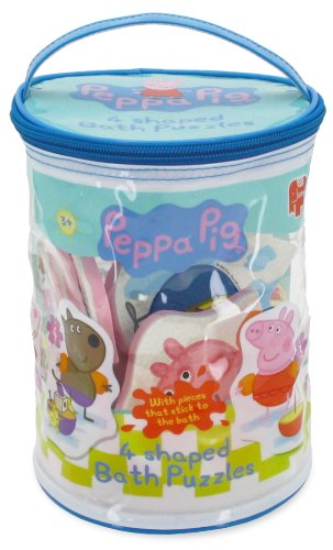 [UK-Import]Peppa Pig 4 in 1 Shaped Bath Time Jigsaw Puzzles (Peppa Pig Adventure)