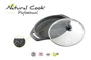 Plat à rôtir ovale en pierre granité et céramique - tous feux dont induction - Natural Cook Professionnel