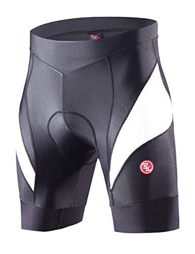 Souke Sports Short de Cyclisme Homme Séchage Rapide de 4D Rembourré Confortable Short Cycliste...