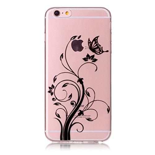 Apple iPhone 6/6S 4.7 Hülle, Voguecase Schutzhülle / Case / Cover / Hülle / TPU Gel Skin (Stein 02) + Gratis Universal Eingabestift Schmetterling liebt Blumen 05