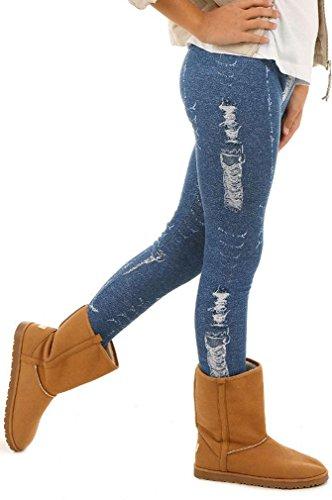 Dykmod Mädchen Warm Thermo Leggings Leggins Winter Muster Jeans Optik 116-158, Jeans-optik, 140