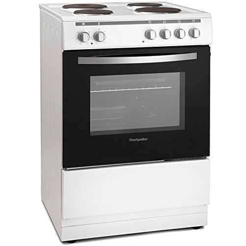 41pTl0nSZxL. SS500  - Montpellier MSE60W 60cm Single Cavity Electric Solid Plate Cooker in White