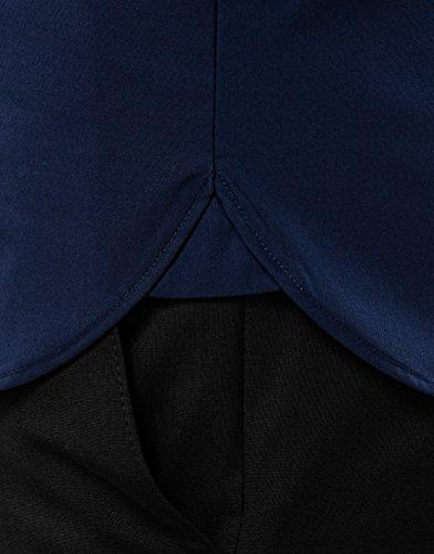 Vincenzo Boretti Herren Hemd Slim Fit Tailliert Bügelfrei Uni Marine