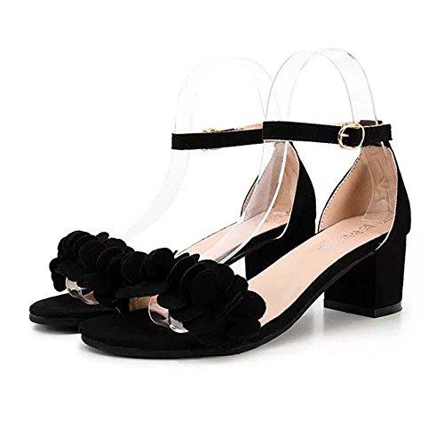 2723bdbf28a JYC Clearance 2018 Women High Heel Sandals, Platform Heels For Women,  Floral Low Wedge Heel Heel Sandals, Ankle Platforms Shoes, Flowers Adorn  Buckle, ...