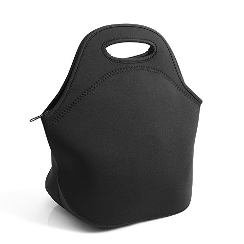 neoprene-black-lunch-tote-bag-pouch-waterproof-and-dustproof