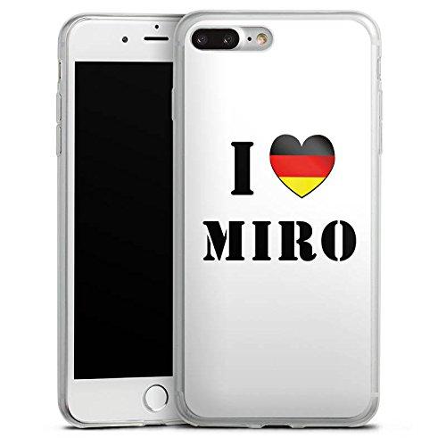 Apple iPhone 8 Slim Case Silikon Hülle Schutzhülle Miroslav Klose Fußball Deutschland Silikon Slim Case transparent