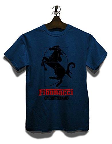 Fibonacci Ferrari T-Shirt Navy Blau