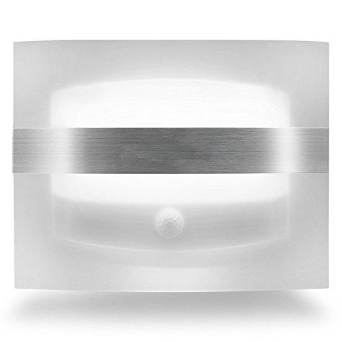 HF morning Kabellose LED Wandleuchte batteriebetrieben mit bewegungsmelder und 3 Modi,LED Nachtlicht,menschlicher Infrarot-Sensor fürTreppe,Flur,Hof,Garage [Energieklasse A+++] (1)