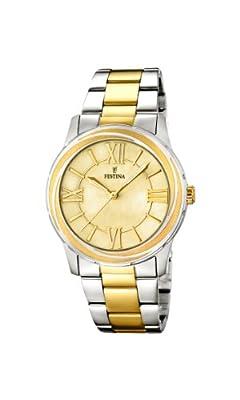 Festina F16723/1 - Reloj de cuarzo para mujer, con correa de acero inoxidable, color plateado de Festina