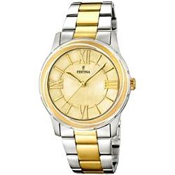 Festina F16723/1 - Reloj de cuarzo para mujer, con correa de acero inoxidable, color plateado