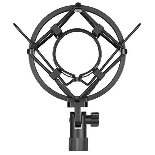 Neewer, supporto universale per microfono, colore nero, antivibrazione, a sospensione, alto livello di isolamento, per microfono a condensatore da studio, ideale per studio di registrazione, radio, voice-over, etc