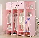 Yigui Portable Kleiderschrank Kleiderschrank Schlafzimmer Schrank Dresser Cube Speicherorganisator, Platzsparend, Ideal Storage Organizer, 14 Türen + 5 Grid + 3 Schuhschrank