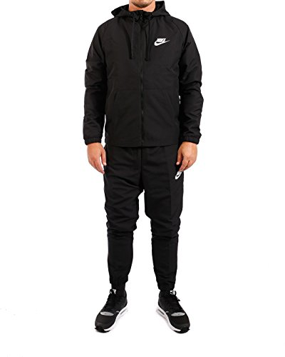 Nike, Suit Herren Small Black Black (Kapuzen-trainingsoutfit)