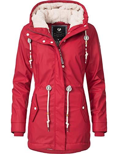 Ragwear Damen Outdoor-Jacke Regenparka Monadis Rainy Black Label Chilli Red Gr. L
