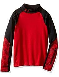 Under Armour Cg Mock-Camiseta de protección térmica para niño, color rojo (talla del fabricante: YLG)