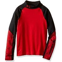 Under Armour Cg Mock-Camiseta de protección térmica para niño, color rojo (XS, talla fabricante: YXS)