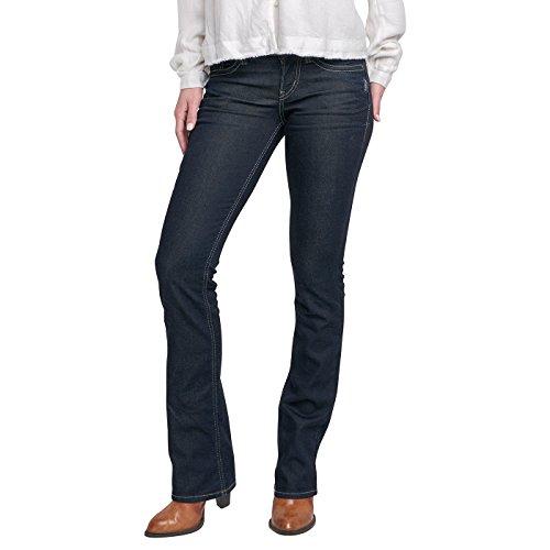 Silver Jeans Co. Damen Suki Slim Boot Jeans, Rinse Wash, 29Wx 33L