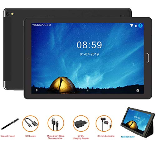 tablet 4g Tablet 10 Pollici Tablet Android 8.0 4G con 3 slot (Dual SIM + SD) Processore Quad Core