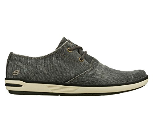 Skechers Uomo Relaxed Fit Spencer Leandro 64077 Oxford scarpe Black/Gray