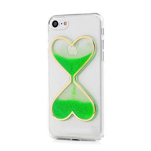 Mavis's Diary Coque iPhone 7 (4.7'') Étui Housse de Protection TPU Silicone Coque Liquide Antichoc Ultra Mince Léger Souple Flexible Portable Douce Phone Case Cover + Chiffon - Vert