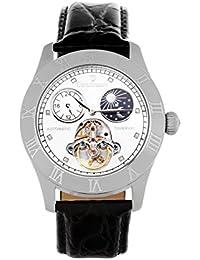 Continuum - CO15015B - Montre Homme - Mouvement Automatique - Affichage Analogique - Cadran Blanc - Bracelet Cuir Noir