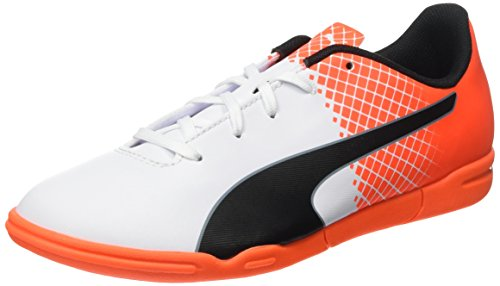 Puma Unisex-Kinder Evospeed 5.5 It Jr Fußballschuhe Weiß (puma white-puma Black-SHOCKING Orange 03)