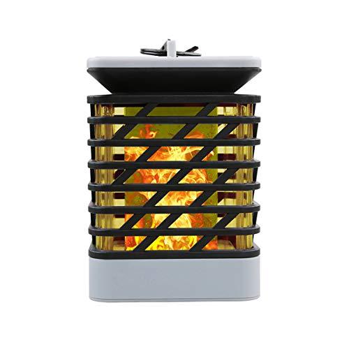 Solarleuchte, Außen Solar Laterne Flackernde Flammenlampe 75LED Beleuchtung Flammenartig LED Lampe Dekoration Lampen Hängeleuchte IP55 Wasserdicht für Garten/Terasse/Zaum (2 Stück)