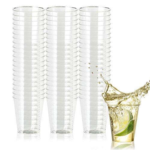 50 Hartplastik Schnapsgläser (60 ml) - Einweg, Wiederverwendbar, Transparent & Bruchsicher Kunststoff Shotgläser - Einweg-Becher für Schüsse/Shots, Wodka-Gelee, Partys, Hochzeiten, Weihnachten.