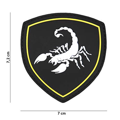 Tactical Attack Russischer Skorpion schwarz #9061 Softair Sniper PVC Patch Logo Klett inkl gegenseite zum aufnähen Paintball Airsoft Abzeichen Fun Outdoor Freizeit -