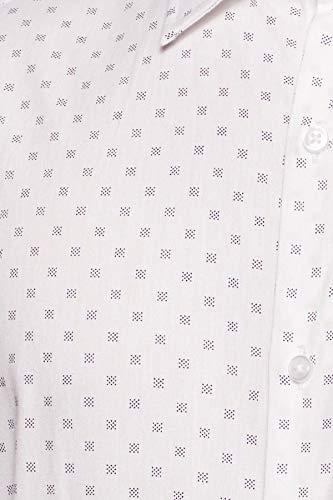 Diverse Men's Printed Regular fit Cotton Formal Shirt DVF01F2L01-236_Dot Square White_44