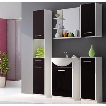 badm bel set badezimmerm bel mit waschbecken wei matt schwarz hochglanz k che. Black Bedroom Furniture Sets. Home Design Ideas