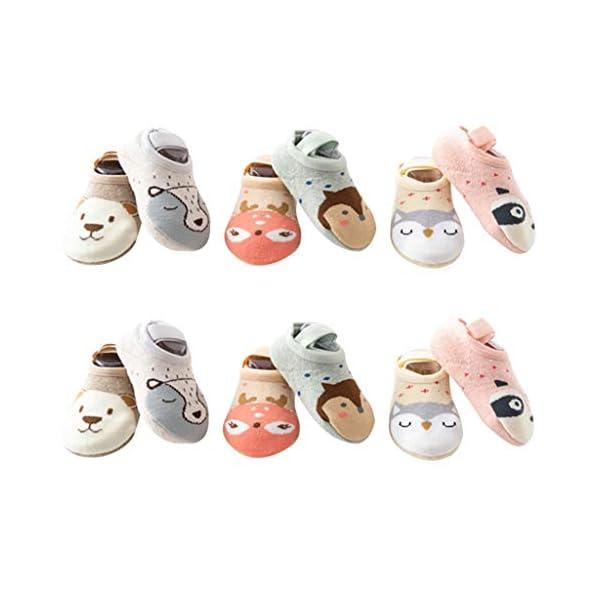 ZOOMY Primavera Otoño Niños Calcetines de Suelo Bebé Niñas Niños Calcetín Antideslizante para Barco 1