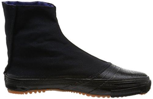 MARUGO Senmaru Japanische Tabi Schuhe Schwarz mit Clips und dicker Sohle Schwarz