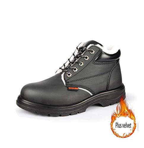 BHPL Sicherheitsschuhe, Männer Sicherheit Indestructible Schuhe Construction pannensichere Schuhe mit Zehenkappe Wanderschuhe,37