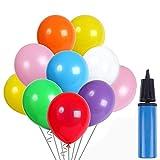 100 Stück Party Ballons Luftballon und 1 Ballonpumpe