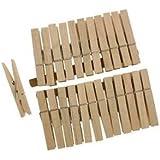 24 Holz-Wäscheklammern # Maße: ungefähr 7,3 x 1 cm # Wäscheklammer mit Feder # Holzklammer Holzklammern Wäscheklammern