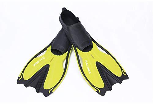 MLL Tauchen Flossen Schnorcheln DREI Schätze Langen Absatz Fuß Flossen Training Schnorcheln Ente Skorpion,Gelb,M