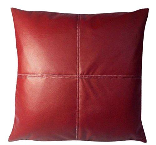 buydirect Kunstleder Home Sofa Dekorative Kissen, Kissen mit Baumwolle 40x 40cm rot (Sole Cushion Socks)