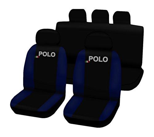 Lupex Shop Polo.N.BS Coprisedili Bicolore, Nero/Blu Scuro