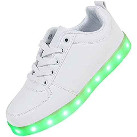 Joney(TM) Unisex Adulto 7 Colore USB Carica LED Lampeggiante Luminosi Sneakers Scarpe Sportivet