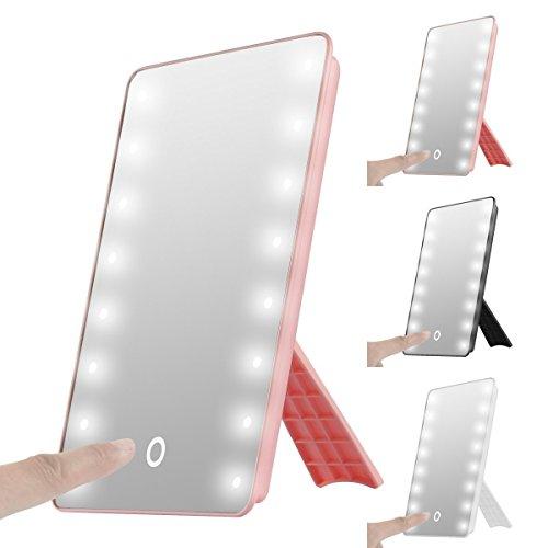 Sentik beleuchteter Kosmetikspiegel/Make-up-Spiegel mit 16 LED-Leuchten, tragbar, Touch-Bildschirm,...