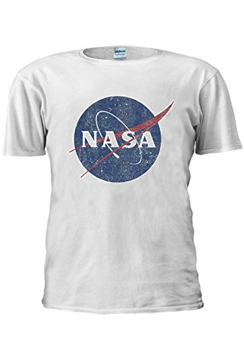 NASA Distressed Space Astronaut Retro Geek Nerd Unisex T Shirt Top Men Women Ladies