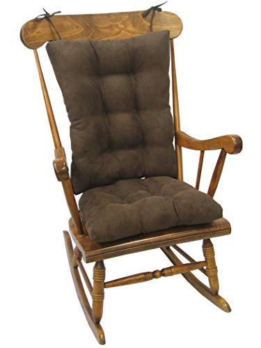 Klear Vu Twillo Schaukelstuhlauflage, Sitz- und Rückenkissen, Schokoladenbraun - Doppel-wippe-sitz