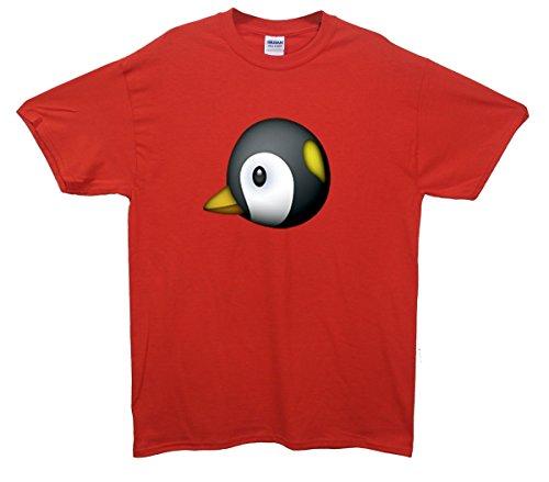Penguin Emoji T-Shirt Rot