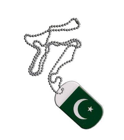 Dog Tag / Erkennungsmarke / Kette Pakistan - 3 x 5 cm