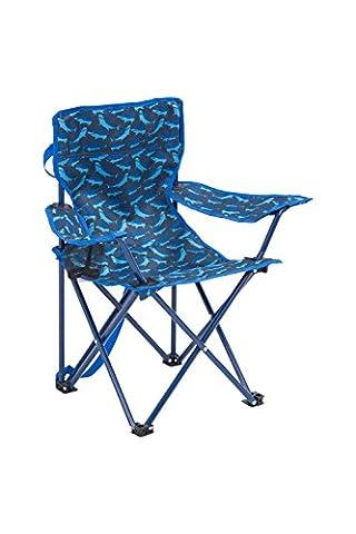 Mountain Warehouse Chaise Enfant fille Garçon pliante Jardin Plein Air Imprimé Bleu Taille Unique