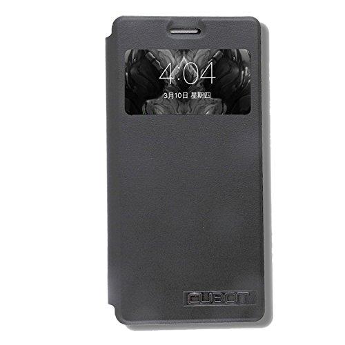 Guran® PU Leder Tasche Etui für CUBOT S500 Smartphone (Keine Innenschale) Flip Cover Stand Hülle Case-schwarz