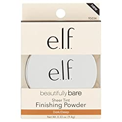 e.l.f. Beautifully Bare Dark/Deep Finishing Powder, 0.33 oz