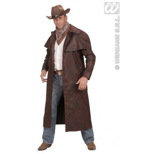 Braun Duster Mantel Kostüm - Widmann wdm7226e-Kostüm für Erwachsene Mantel Duster, braun, XL