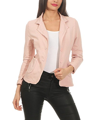 ZARMEXX Blazer da Donna Button Down Jacket Jacket Blazer Basic Coat Vintage Sweat Jacket